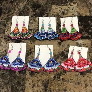 Authentic Artisan Chiapas Mexico Earrings